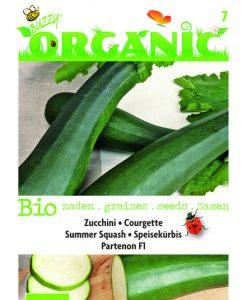 Bio Courgette Partenon F1 Seeds 4 Garden