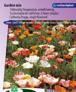 California Poppy single Garden mix Seeds 4 Garden