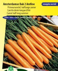 Carrot Amsterdamse Bak 2 Amfine (Halflong Summer) Seeds 4 Garden