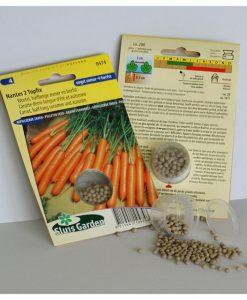 Carrot Nantes 2 Topfix (Halflong Summer and Autumn) PELLETED Seeds 4 Garden
