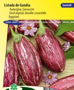 Eggplant Listada de Gandia Seeds 4 Garden