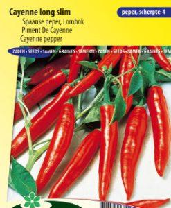 Pepper Cayenne Long Slim Seeds 4 Garden