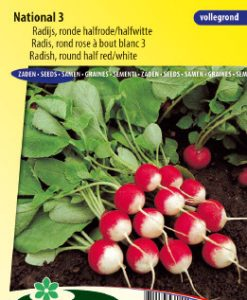 Radish National 3 (half red/white) Seeds 4 Garden