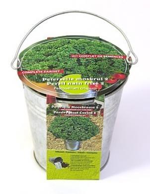 Zinc bucket Parsley curled Seeds 4 Garden