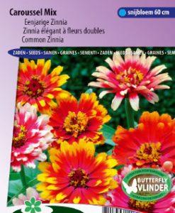 Zinnia Caroussel Mix Seeds 4 Garden