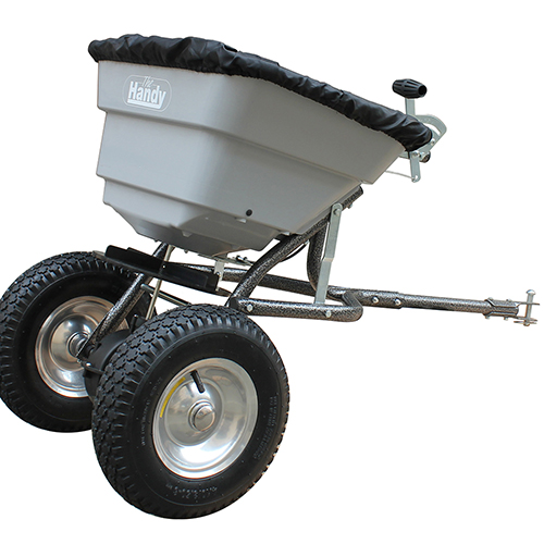 The Handy 36.5kg (80lbs) Towed Broadcast Spreader YouGarden