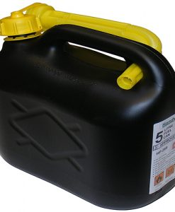 5 ltr Plastic Petrol Can - Black