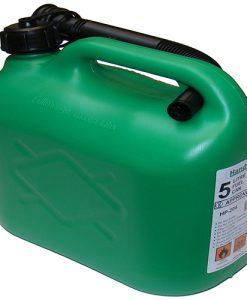 5 ltr Plastic Petrol Can -Green