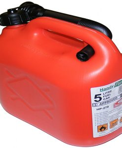 5 ltr Plastic Petrol Can - Red