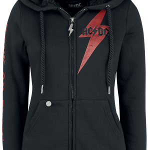 AC/DC - EMP Signature Collection - Girls hooded zip - black product image at Soundorabilia.com