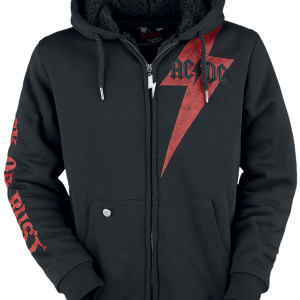 AC/DC - EMP Signature Collection - Hooded zip - black product image at Soundorabilia.com