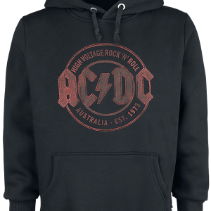 AC/DC - High Voltage 1975 - Hooded sweatshirt - black product image at Soundorabilia.com
