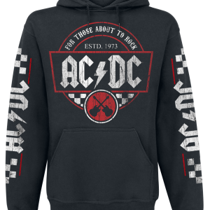 AC/DC - Rock Race - Hooded sweatshirt - black product image at Soundorabilia.com