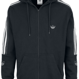 Adidas - Outline FZH FLC - Hooded zip - black product image at Soundorabilia.com