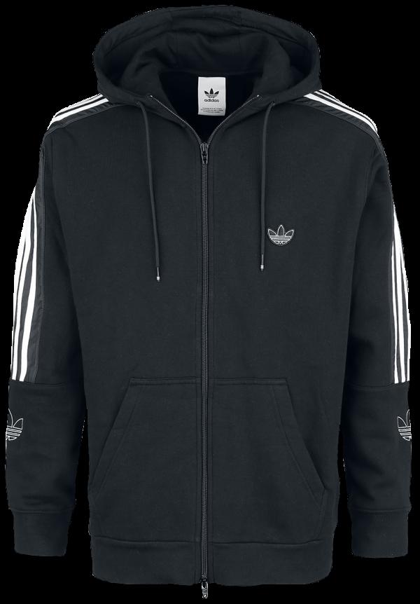 Adidas - Outline FZH FLC - Hooded zip - black product image at Soundorabilia.com