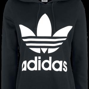 Adidas - Trefoil Hoodie - Girls hooded sweatshirt - black-white product image at Soundorabilia.com