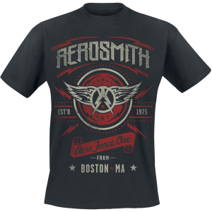 Aerosmith - Aero Force One - T-Shirt - black product image at Soundorabilia.com