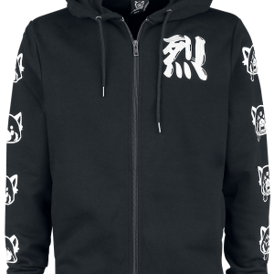 Aggretsuko - Sleeve Faces - Hooded zip - black product image at Soundorabilia.com