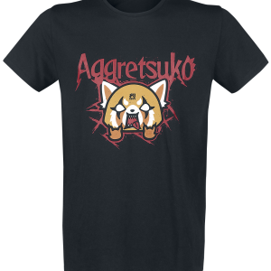 Aggretsuko - Trash Metal - T-Shirt - black product image at Soundorabilia.com