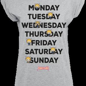 Aggretsuko - Weekdays - Girls shirt - mottled grey product image at Soundorabilia.com