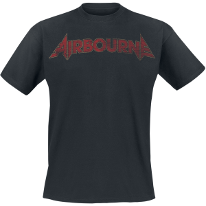 Airbourne - Cracked Logo - T-Shirt - black product image at Soundorabilia.com