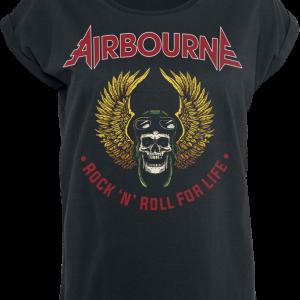 Airbourne - Winged Skull - Girls shirt - black product image at Soundorabilia.com