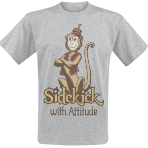 Aladdin - Abu - Sidekick With Attitude - T-Shirt - mottled grey product image at Soundorabilia.com