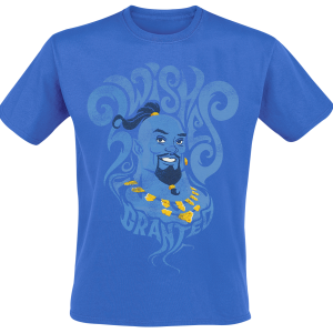 Aladdin - Genie - Wish Granted - T-Shirt - blue product image at Soundorabilia.com