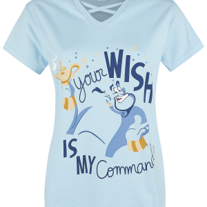 Aladdin - Genie - Your Wish Is My Command - Girls shirt - light blue product image at Soundorabilia.com