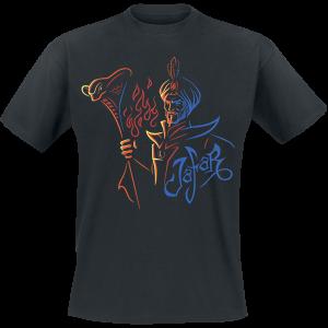 Aladdin - Jafar - Outline - T-Shirt - black product image at Soundorabilia.com