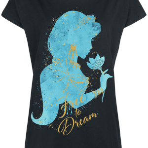 Aladdin - Jasmine - Free To Dream - Girls shirt - black product image at Soundorabilia.com