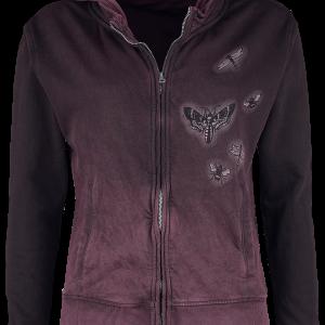 Alchemy England - Amore Skull - Girls hooded zip - lilac product image at Soundorabilia.com