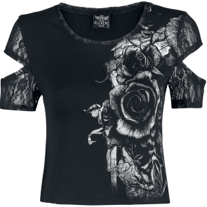 Alchemy England - Dame's Roses - Girls shirt - black product image at Soundorabilia.com
