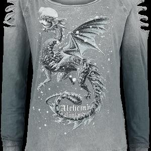 Alchemy England - Dragon Heart - Girls sweatshirt - light grey product image at Soundorabilia.com