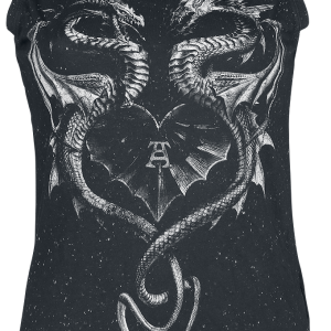 Alchemy England - Heart Of A Dragoon - Girls Top - black product image at Soundorabilia.com