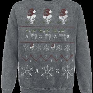 Alchemy England - Merry Deadly Christmas - Sweatshirt - grey product image at Soundorabilia.com