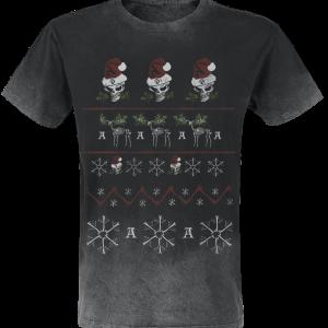 Alchemy England - Merry Deadly Christmas - T-Shirt - grey product image at Soundorabilia.com