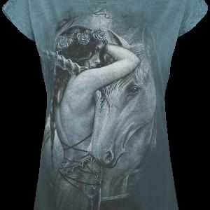 Alchemy England - Mythicorn - Girls shirt - turquoise product image at Soundorabilia.com