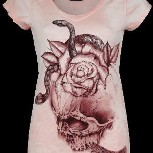 Alchemy England - Snake's Skull - Girls shirt - light pink product image at Soundorabilia.com