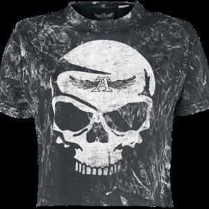 Alchemy England - Splash Skull Webnet - Girls shirt - black product image at Soundorabilia.com
