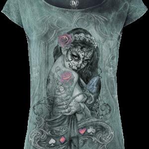 Alchemy England - Widow's Weed - Girls shirt - turquoise product image at Soundorabilia.com