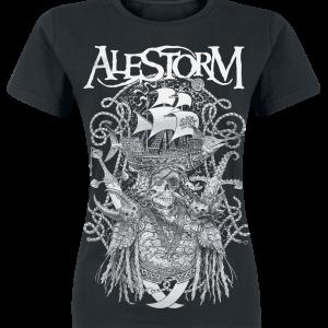 Alestorm - Plunder With Thunder - Girls shirt - black product image at Soundorabilia.com