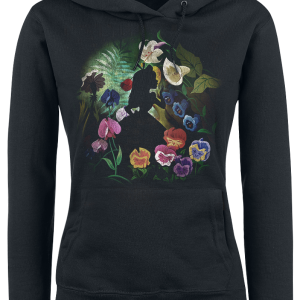 Alice in Wonderland - Black Flower - Girls hooded sweatshirt - black product image at Soundorabilia.com