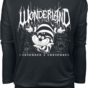 Alice in Wonderland - Cheshire Cat - Metal Wonderland - Girls longsleeve - black product image at Soundorabilia.com
