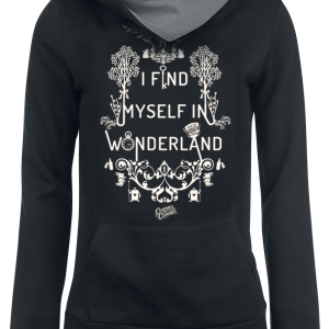 Alice in Wonderland - I Find Myself - Girls hooded sweatshirt - black-grey product image at Soundorabilia.com
