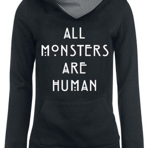American Horror Story - All Monsters Are Human - Girls hooded sweatshirt - black-grey product image at Soundorabilia.com