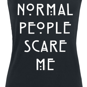 American Horror Story - Normal People Scare Me - Girls Top - black product image at Soundorabilia.com