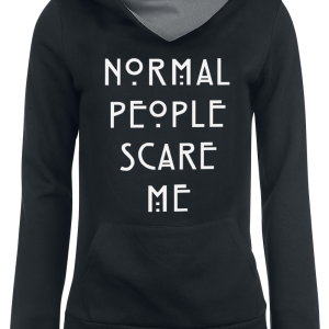 American Horror Story - Normal People Scare Me - Girls hooded sweatshirt - black-grey product image at Soundorabilia.com
