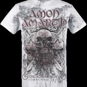 Amon Amarth - Beardskulls - T-Shirt - light grey product image at Soundorabilia.com