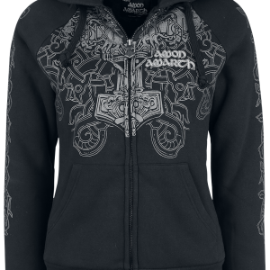 Amon Amarth - EMP Signature Collection - Girls hooded zip - black product image at Soundorabilia.com